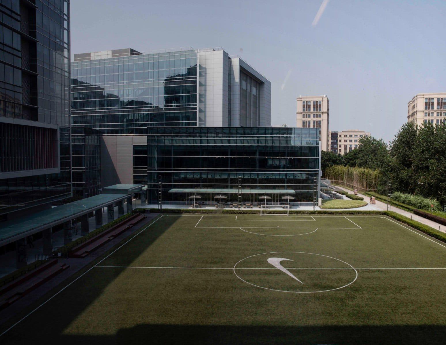 historia Iluminar legal  Nike Greater China Headquarters